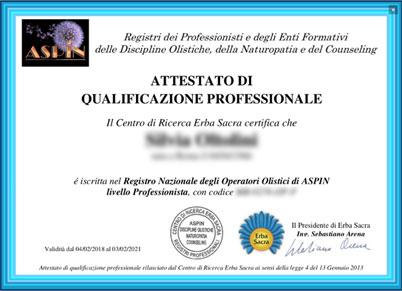 Certificazione Operatore Olistico