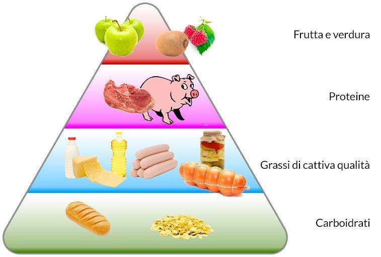 piramide alimentare sbagliata