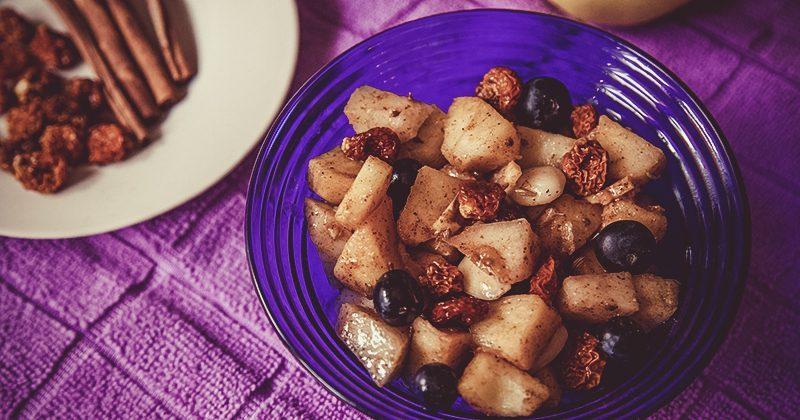 Frutta e semi con inca