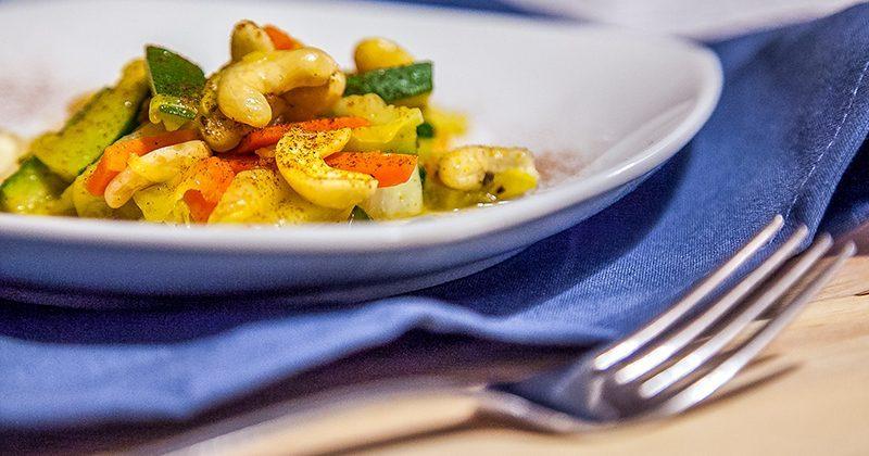 verdure con anacardi