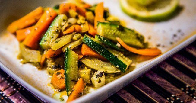verdure con olio di cocco