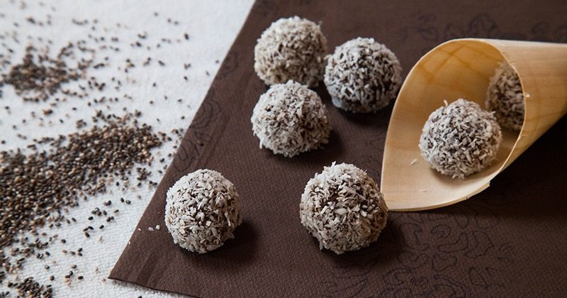 palline crudiste cacao chia