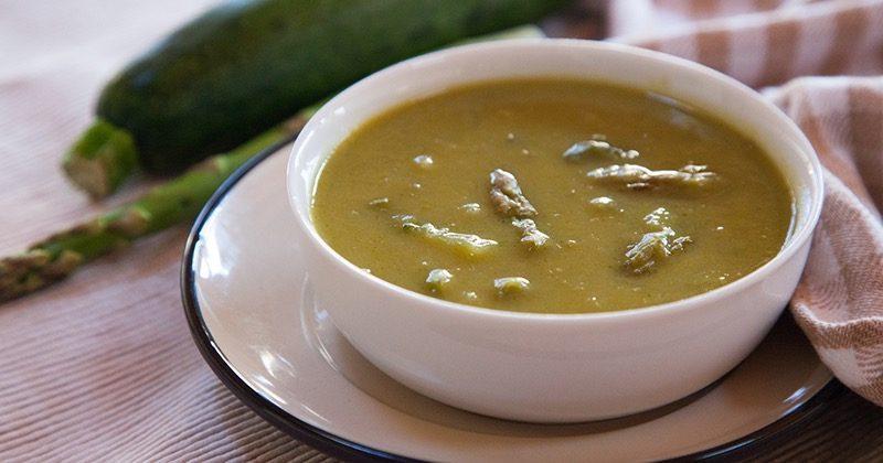 Crema di zucchine e asparagi