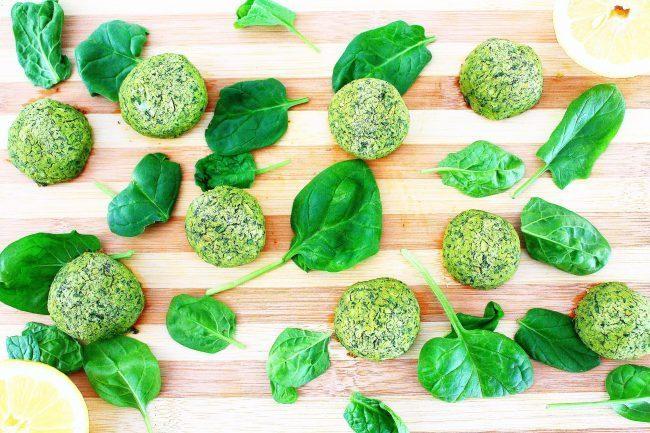 Polpette di ceci e spinacini