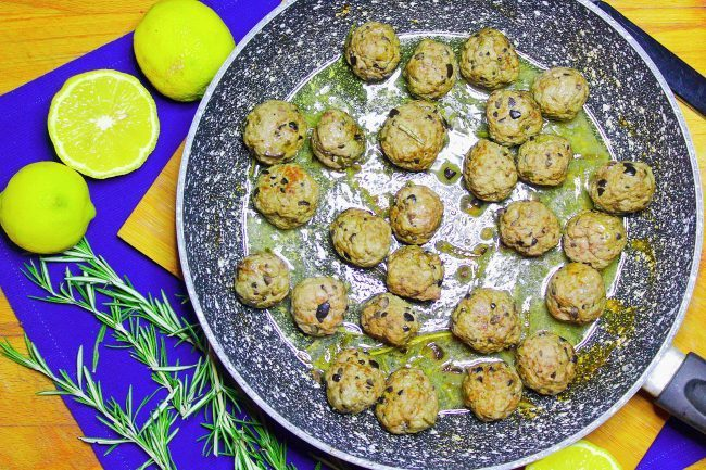 Polpette di manzo alle olive e limone