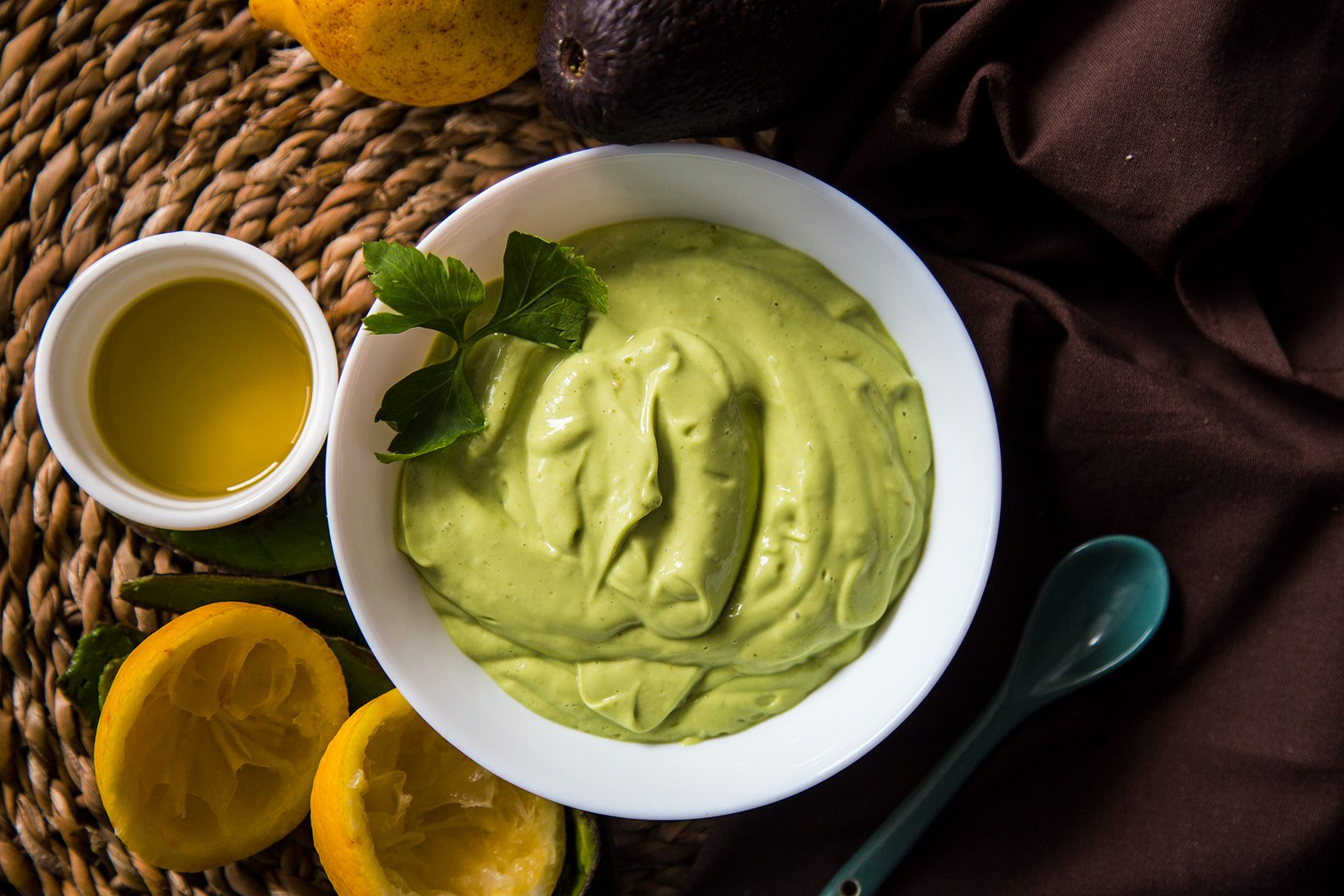 Maionese di avocado vegan