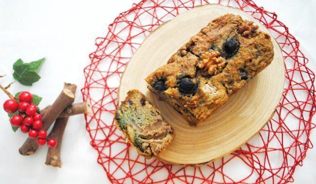Plumcake alla barbabietola con noci, proteine vegetali