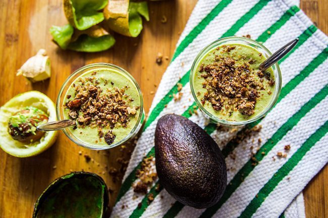Smoothie avocado e kiwi