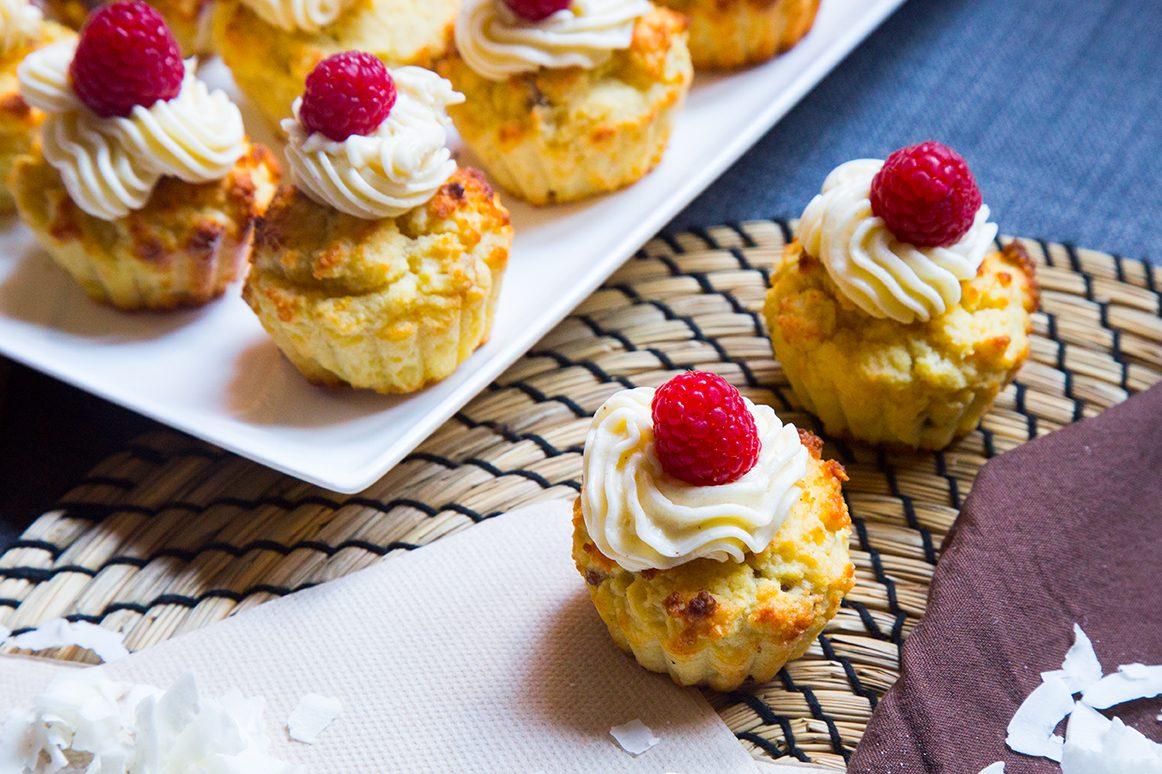 Muffin mela e limone con mousse al limone