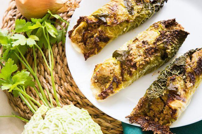 Secondi vegani, cannelloni di verza