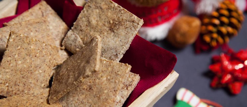 Crackers croccanti al sesamo