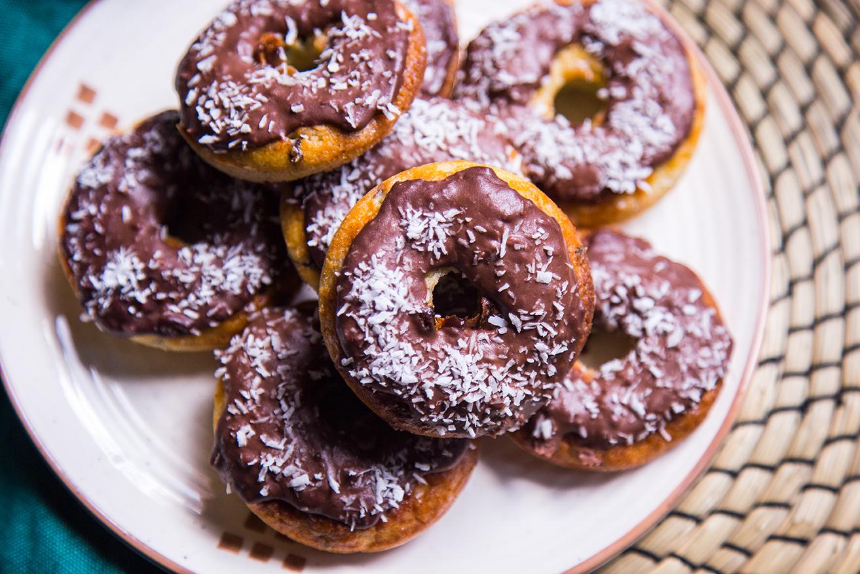 Doughnuts con crema al cacao