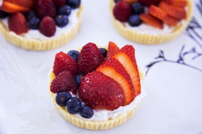 Keto fruit tarts