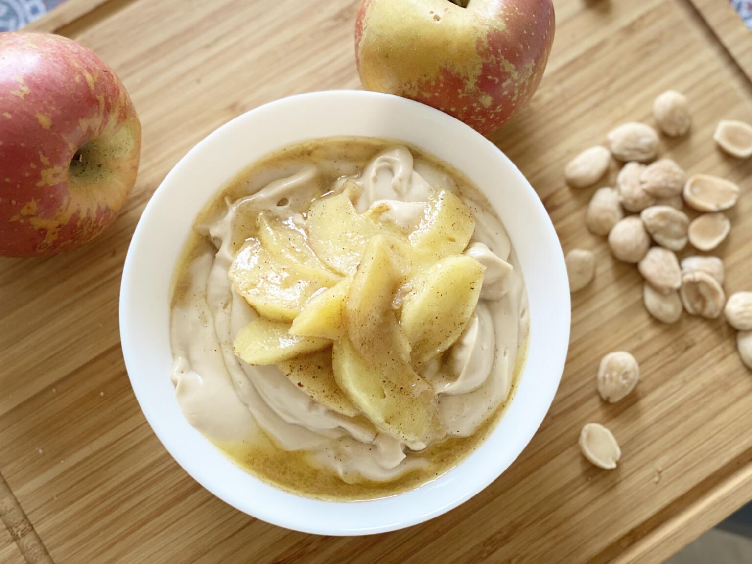 Colazioni proteiche dolci, crema alla mela
