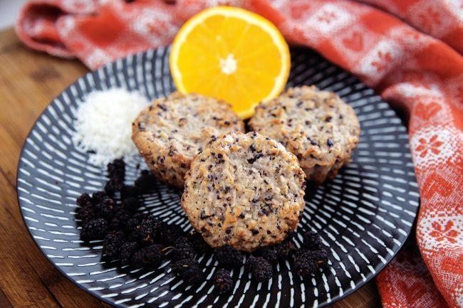 Muffin all'arancia e cocco