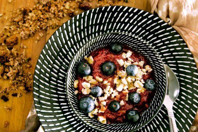 Ricette con proteine in polvere, porridge proteico al cocco