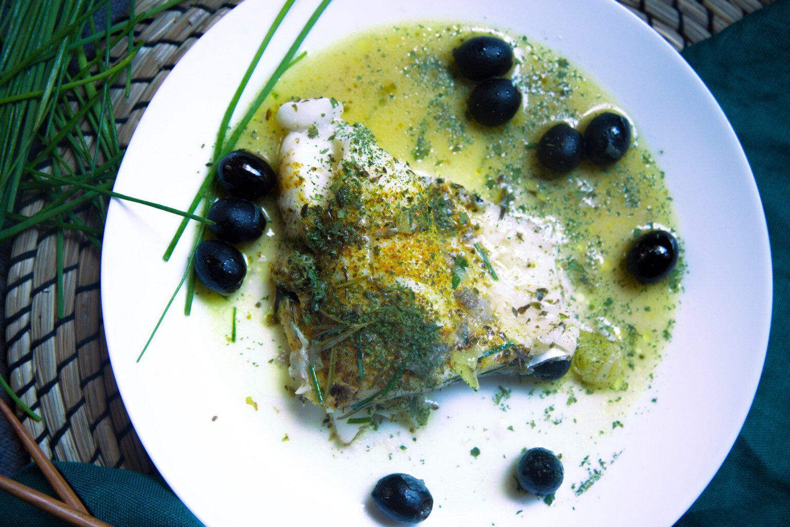 Baccalà al burro e olive nere