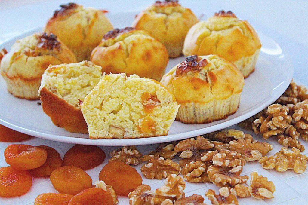 Dolci low carb, Muffin albicocche e noci
