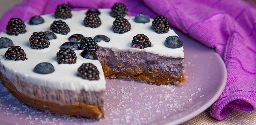 Raw Cake more e mirtilli