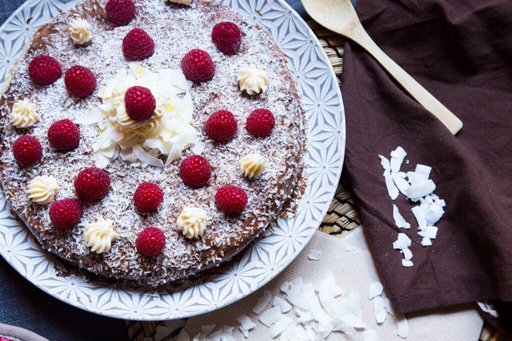 Dolci low carb, Torta cocco e crema al cacao