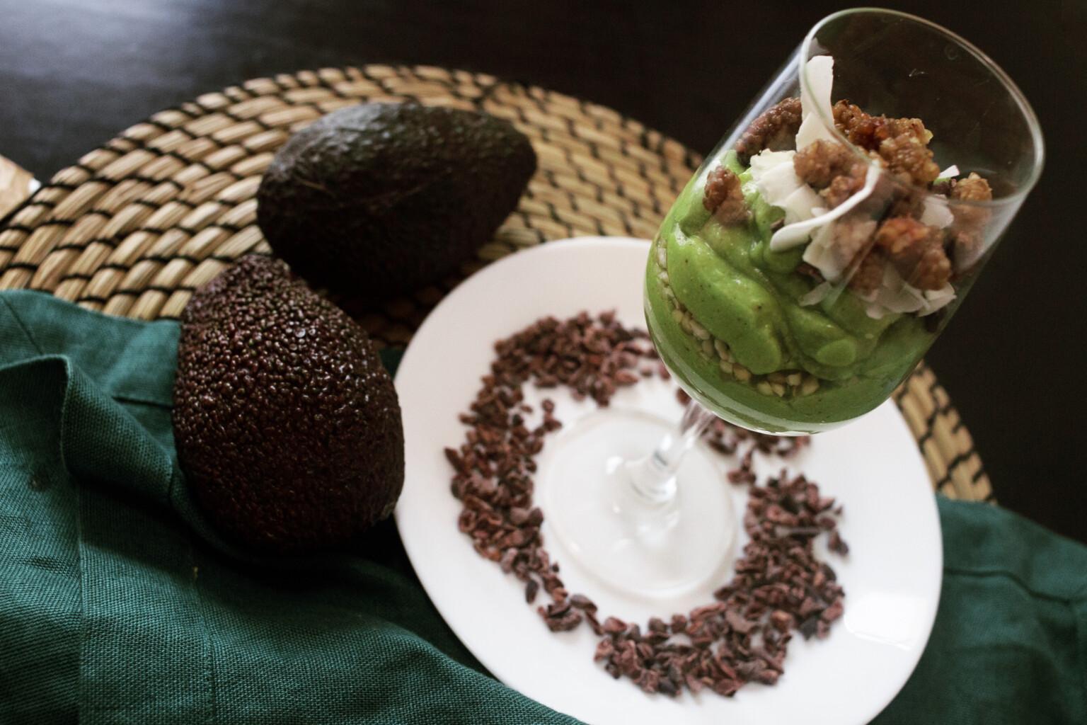 Budino proteico all'avocado