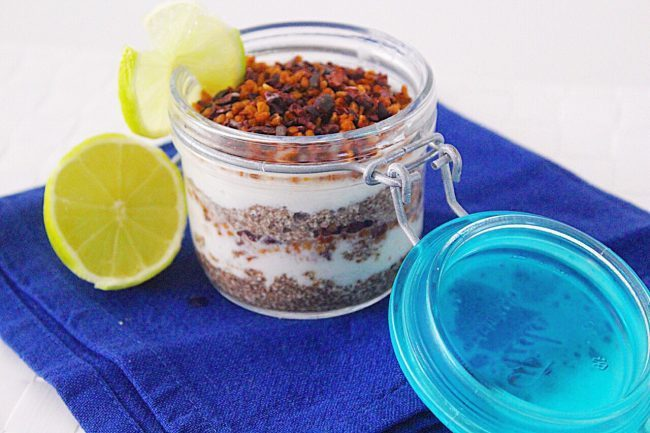 Chia pudding al cocco e lime