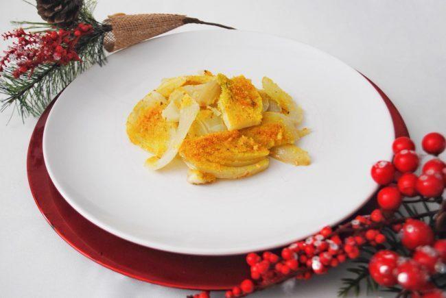 Ricette di verdure, finocchi gratinati al cocco e curry