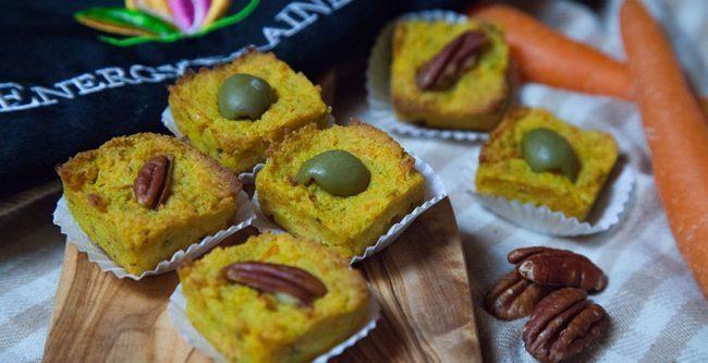 Mini muffin salati alle carote