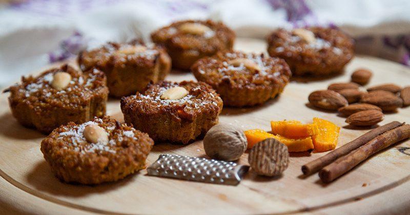 Ricette di verdure, muffin alla zucca speziati