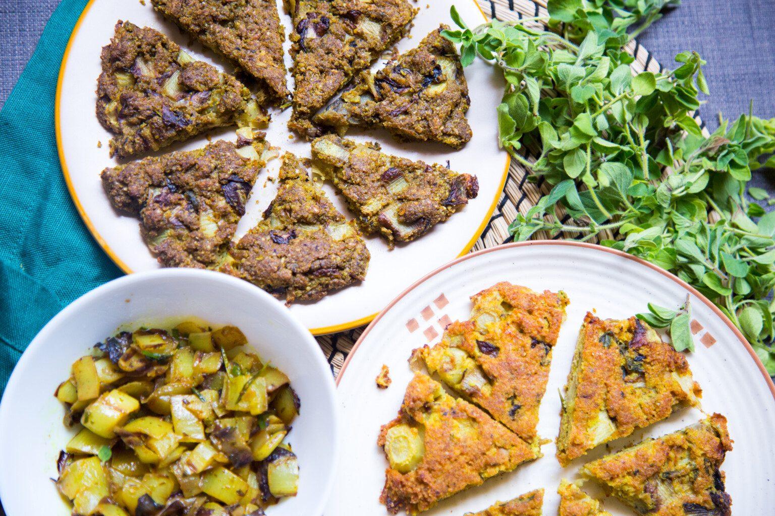 Ricette di verdure, tortino di indivia e ghi